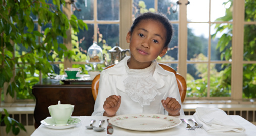 Table etiquette for children