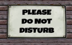 Plkease do not disturb