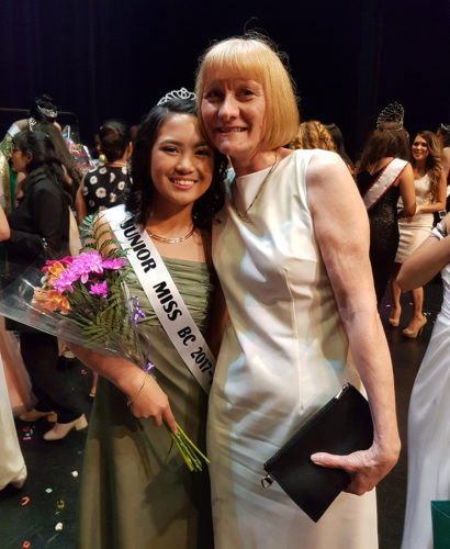 Elizabeth with Junior Miss BC 2017